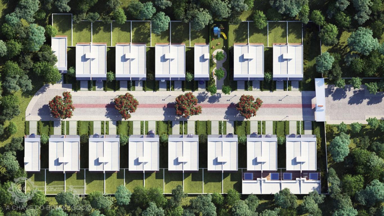 Ilustração de Residencial que será construído no local