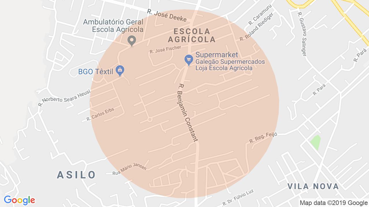 Localização Apartamento 3 dormitórios Escola Agrícola - Blumenau, SC