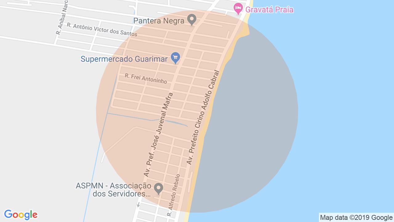 Localização Apartamento 3 dormitórios Gravatá - Navegantes, SC