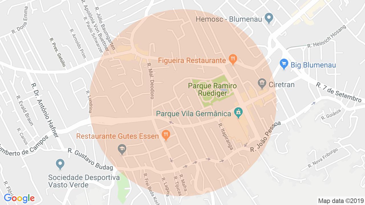 Localização Sala Comercial Velha - Blumenau, SC
