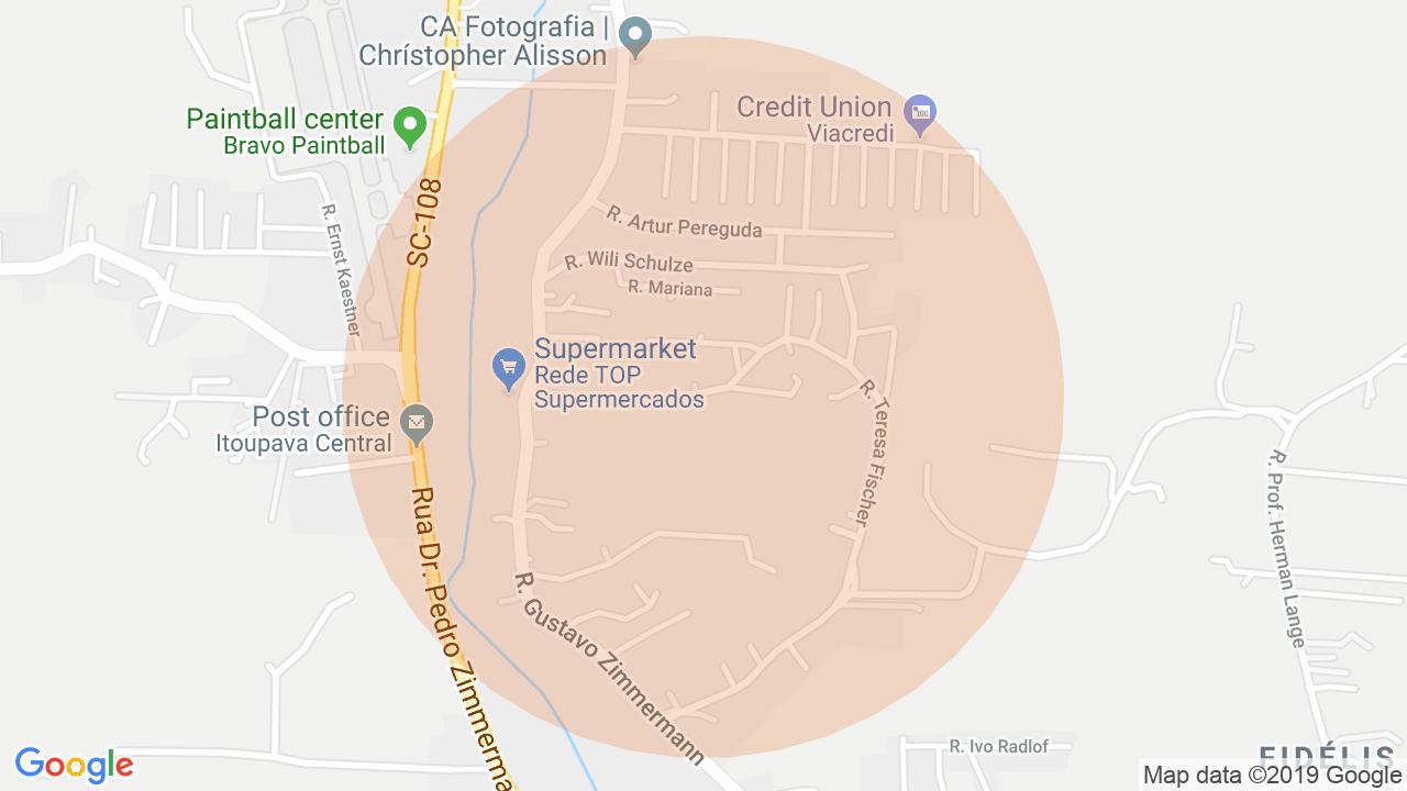 Localização Casa 5 dormitórios Itoupava Central - Blumenau, SC