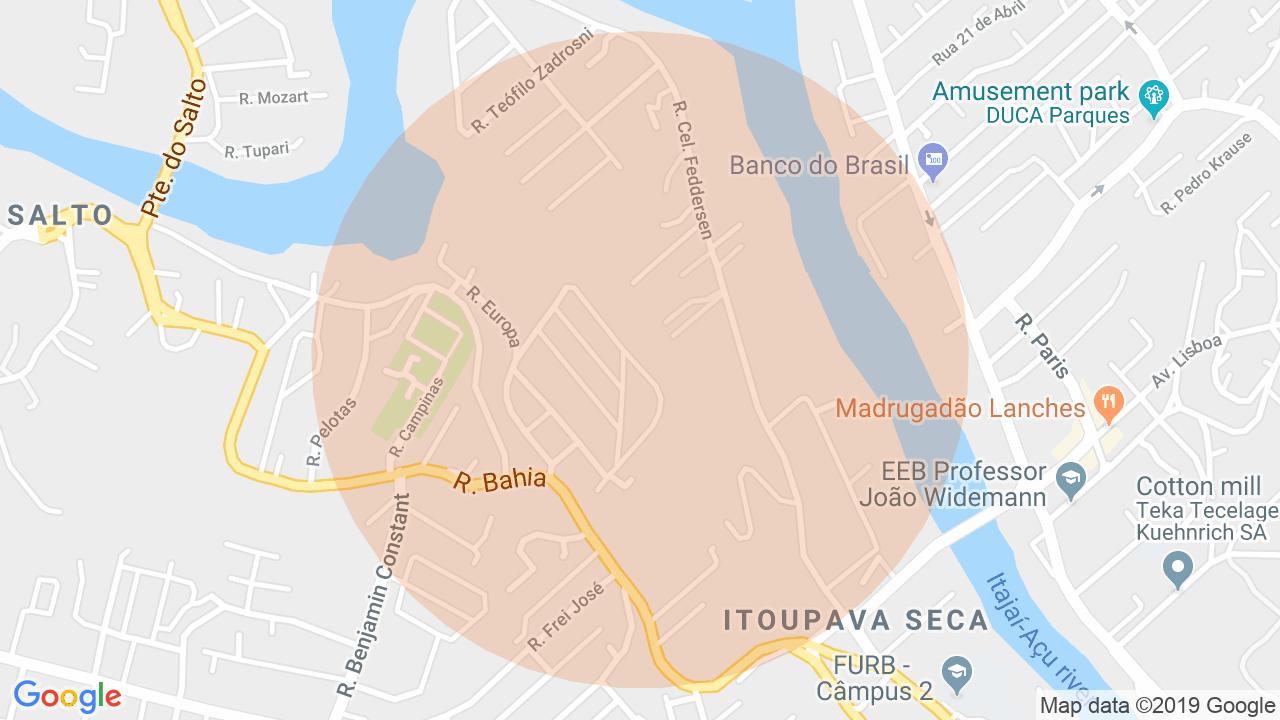 Localização Lote/Terreno Do Salto - Blumenau, SC