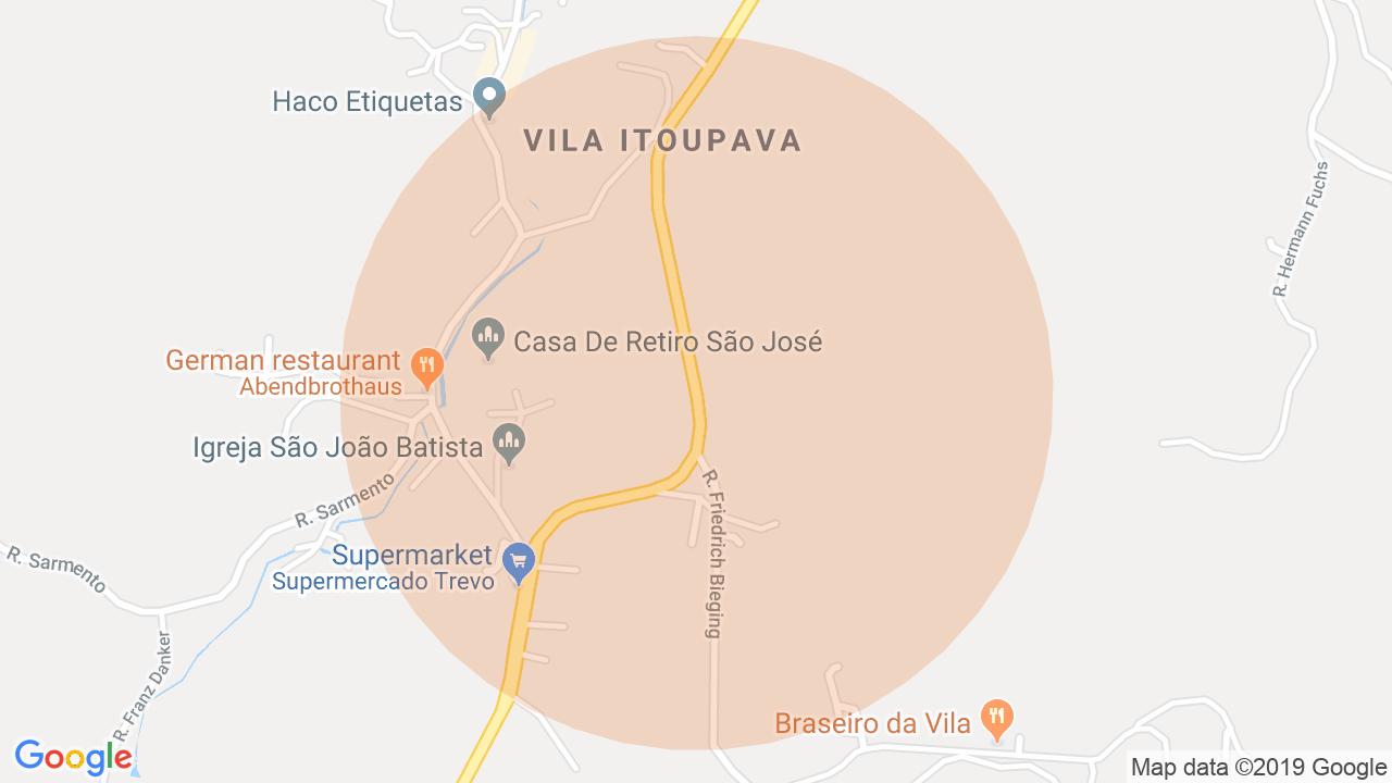 Localização Lote/Terreno Vila Itoupava - Blumenau, SC