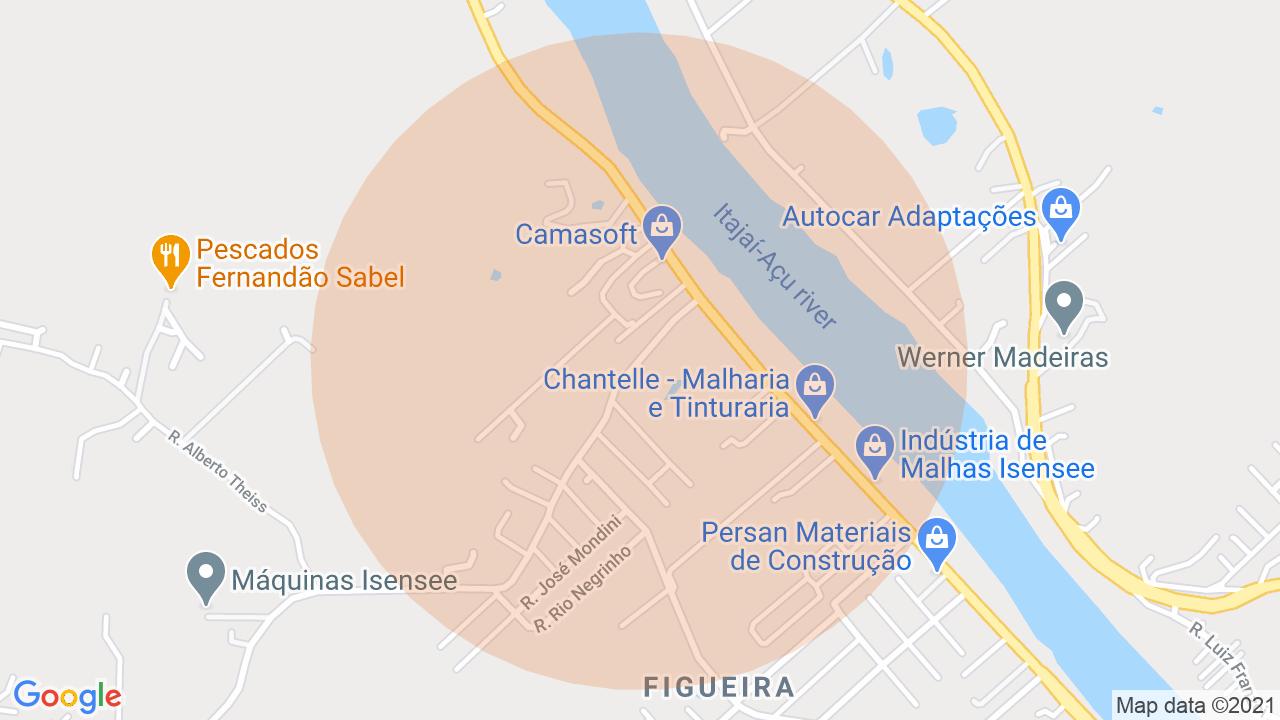 Localização Apartamento 3 dormitórios Figueira - Gaspar, SC