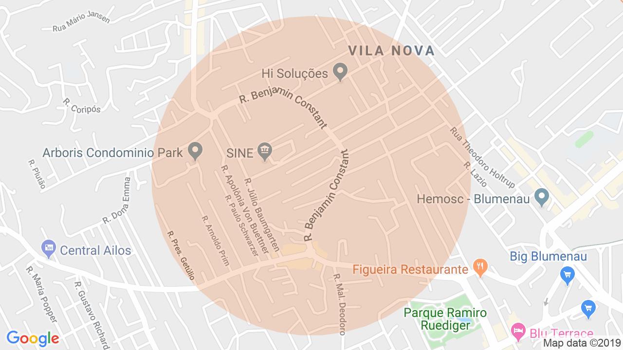 Localização Casa 4 dormitórios Vila Nova - Blumenau, SC