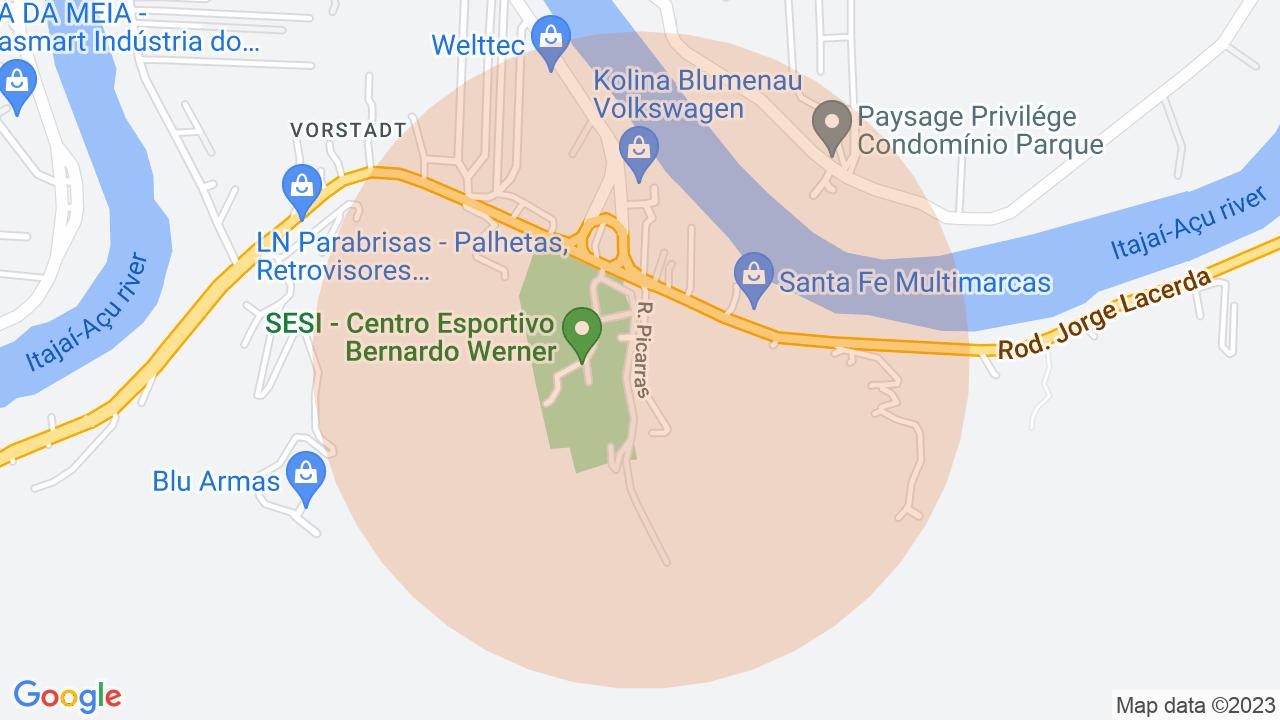 Localização Casa 3 dormitórios Vorstadt - Blumenau, SC