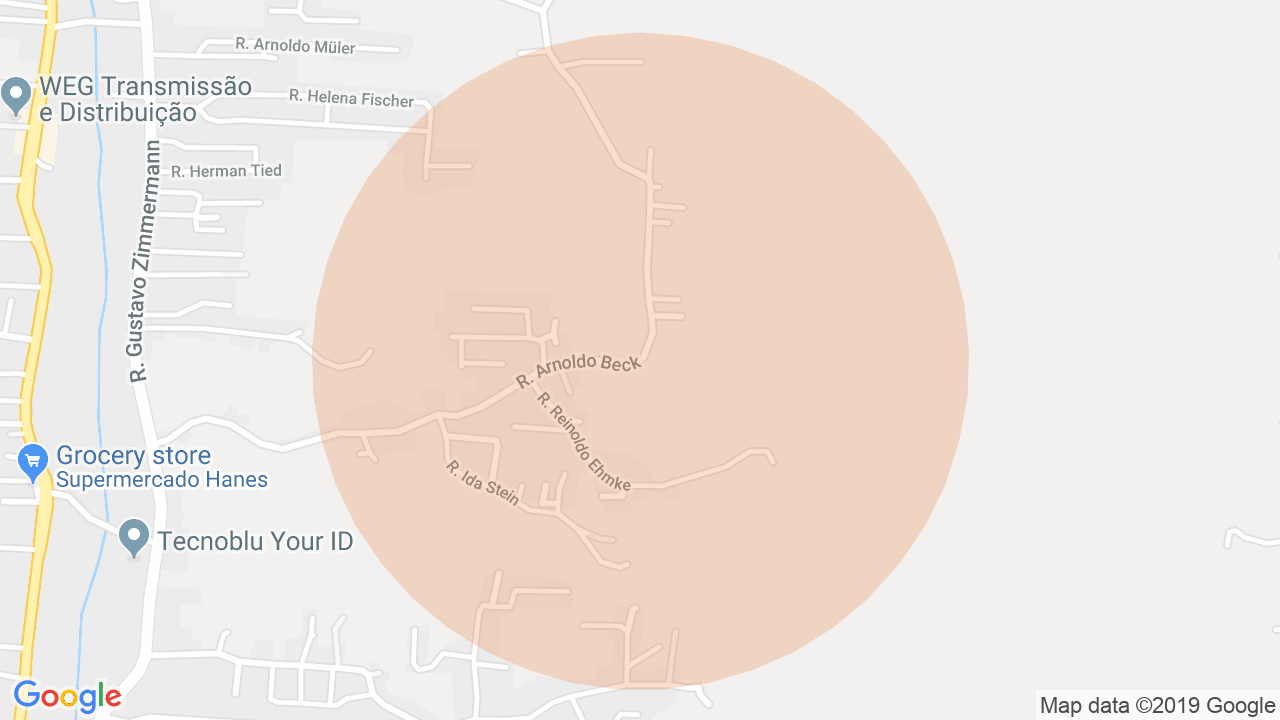 Localização Lote/Terreno 3 dormitórios Itoupava Central - Blumenau, SC