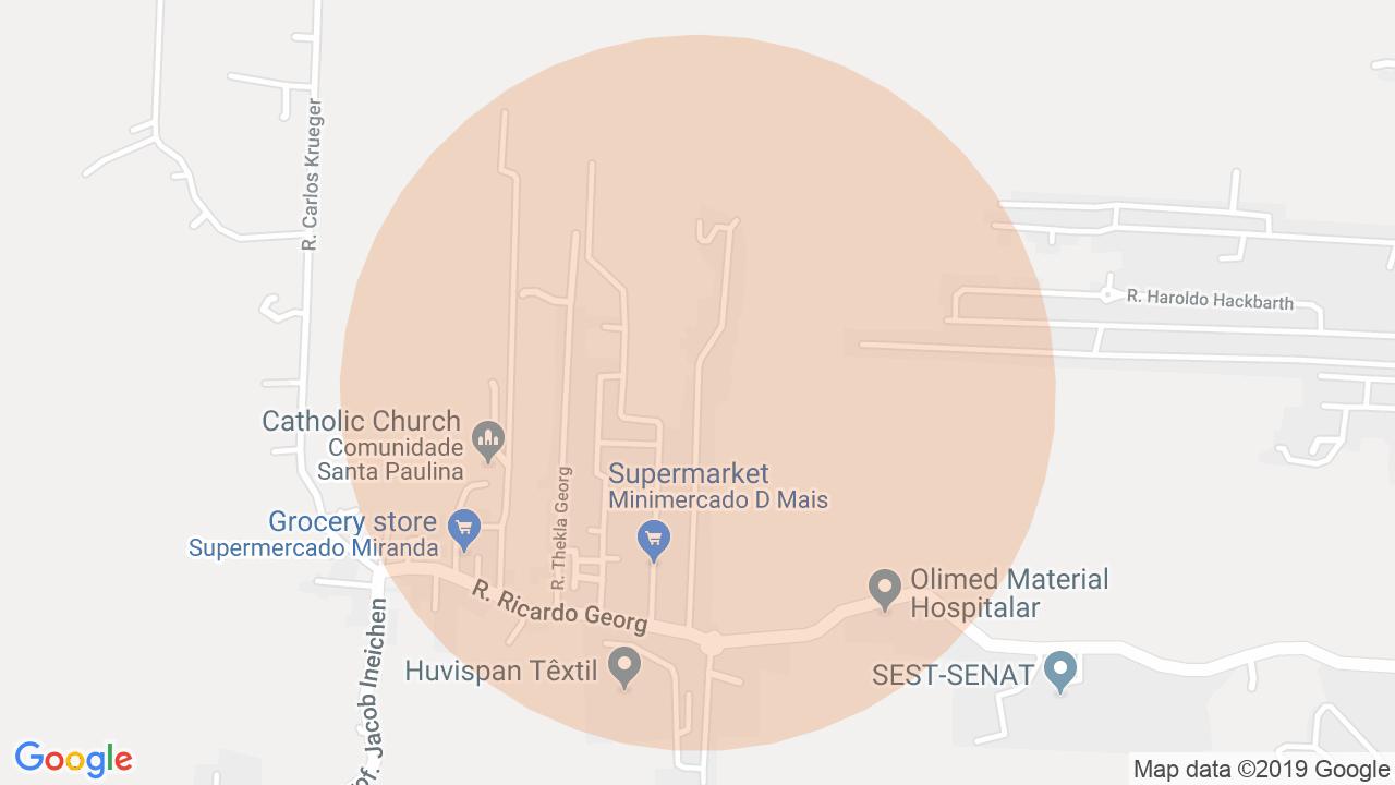 Localização Casa 4 dormitórios Itoupava Central - Blumenau, SC