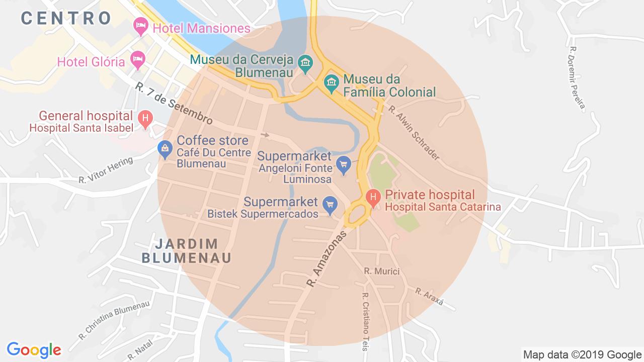 Localização Sala Comercial Centro - Blumenau, SC