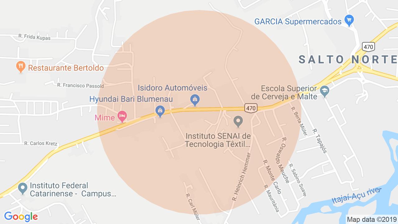 Localização Lote/Terreno Salto do Norte - Blumenau, SC