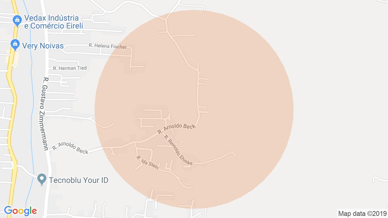 Localização Lote/Terreno Itoupava Central - Blumenau, SC