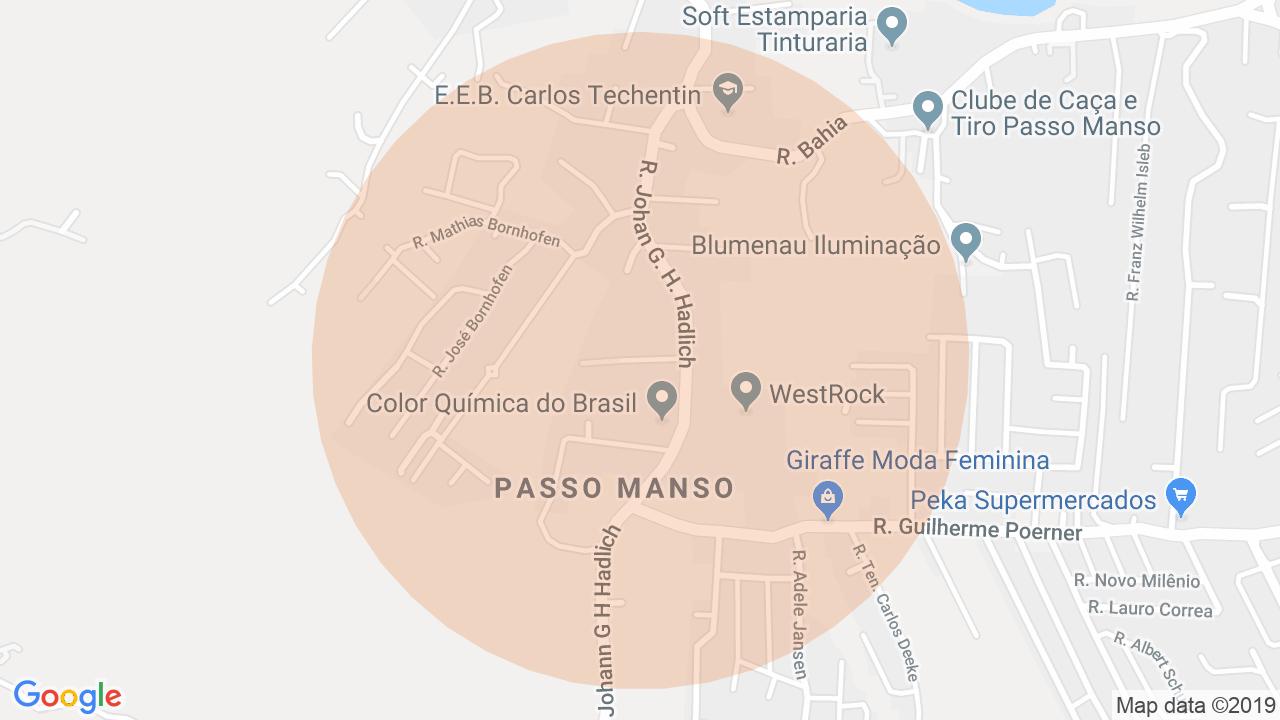 Localização Lote/Terreno Passo Manso - Blumenau, SC