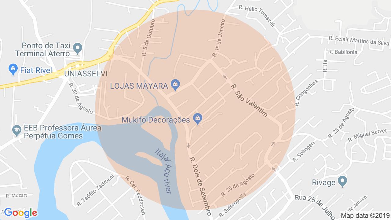 Localização Apartamento 4 dormitórios Itoupava Norte - Blumenau, SC