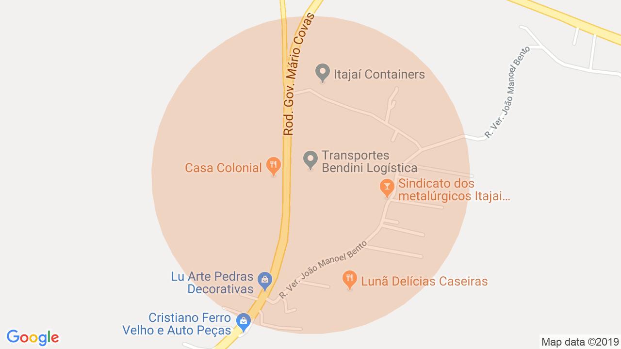 Localização Lote/Terreno São Cristovão - Penha, SC