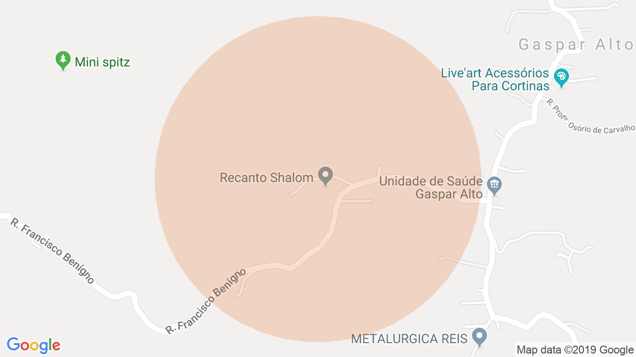 Localização Sítio Gaspar Alto - Gaspar, SC