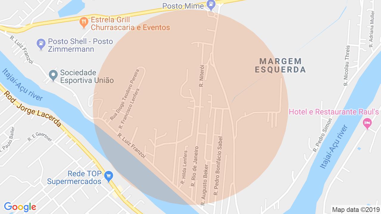 Localização Lote/Terreno Margem Esquerda - Gaspar, SC