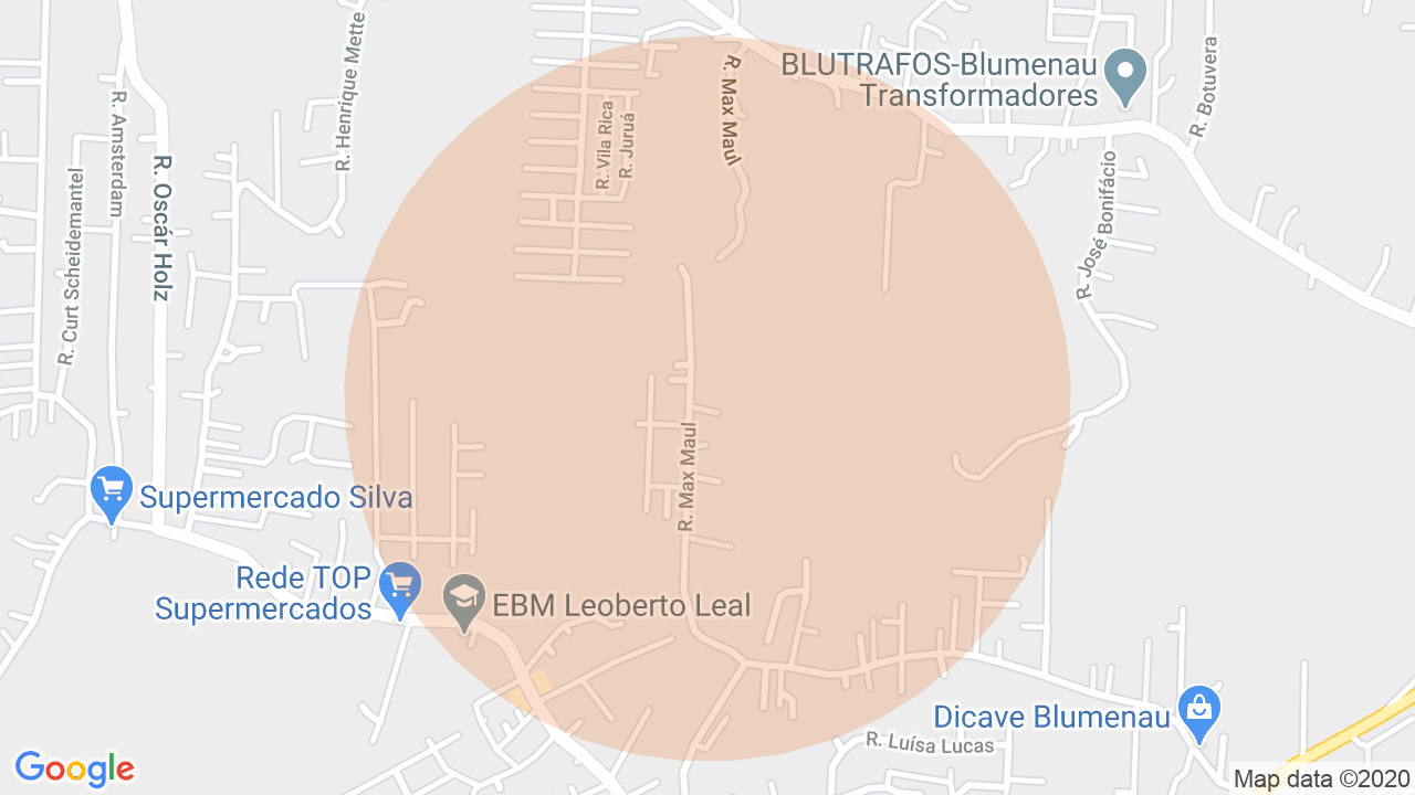 Localização Apartamento 2 dormitórios Salto do Norte - Blumenau, SC