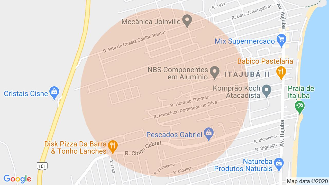 Localização Casa 5 dormitórios Itajuba - Barra Velha, SC