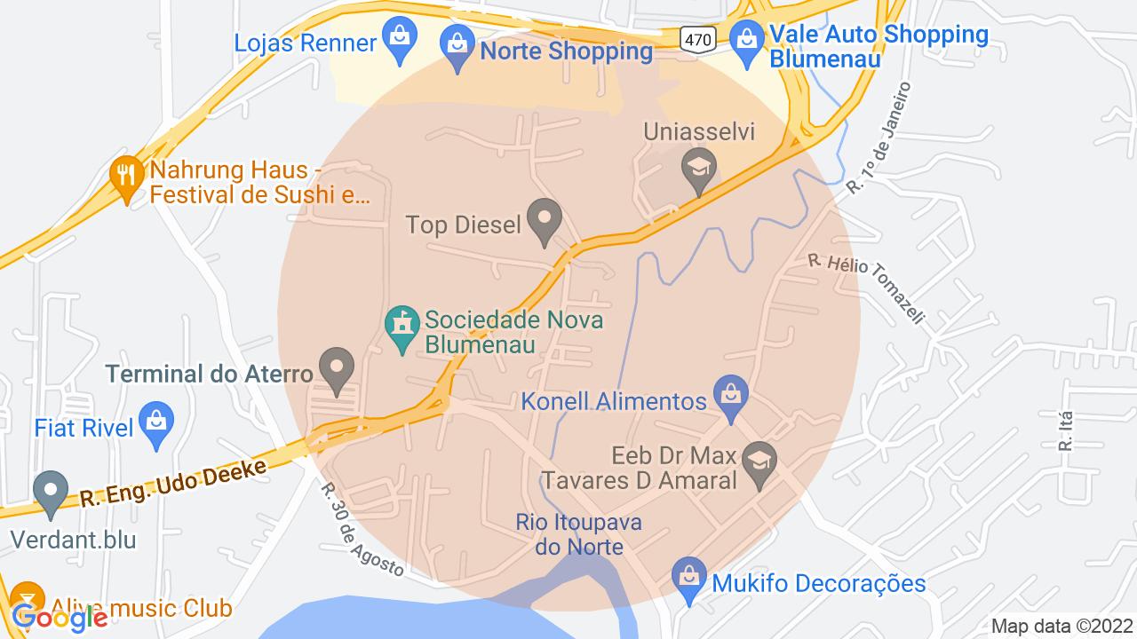 Localização Sobrado 2 dormitórios Salto do Norte - Blumenau, SC