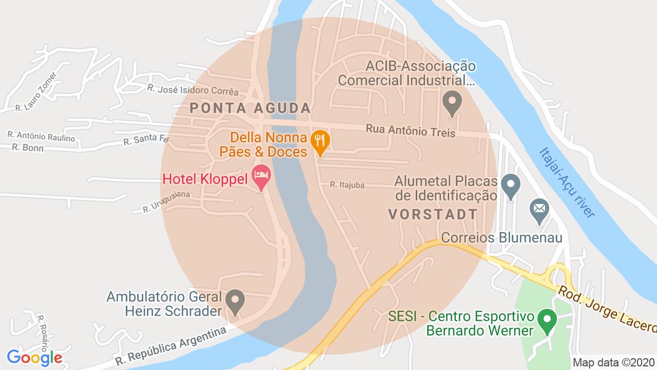 Localização Sobrado 3 dormitórios Vorstadt - Blumenau, SC