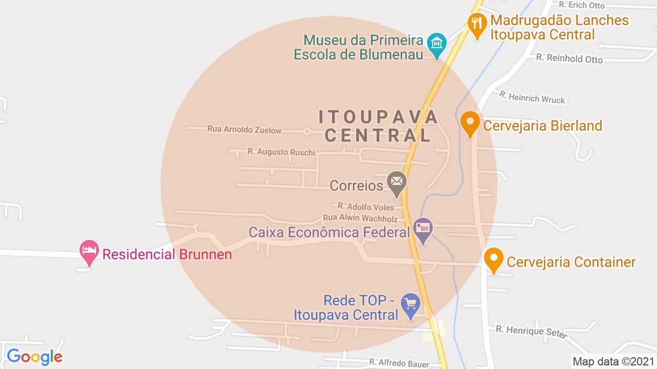 Localização Casa 2 dormitórios Itoupava Central - Blumenau, SC