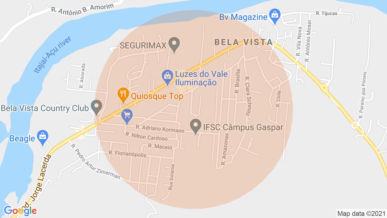 Localização Sobrado 2 dormitórios Bela Vista - Gaspar, SC