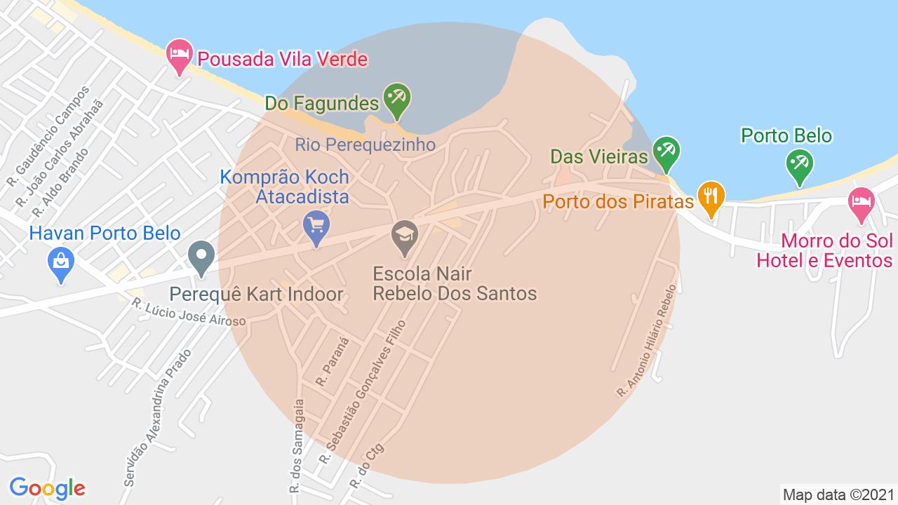 Localização Sobrado 2 dormitórios Vila Nova - Porto Belo, SC