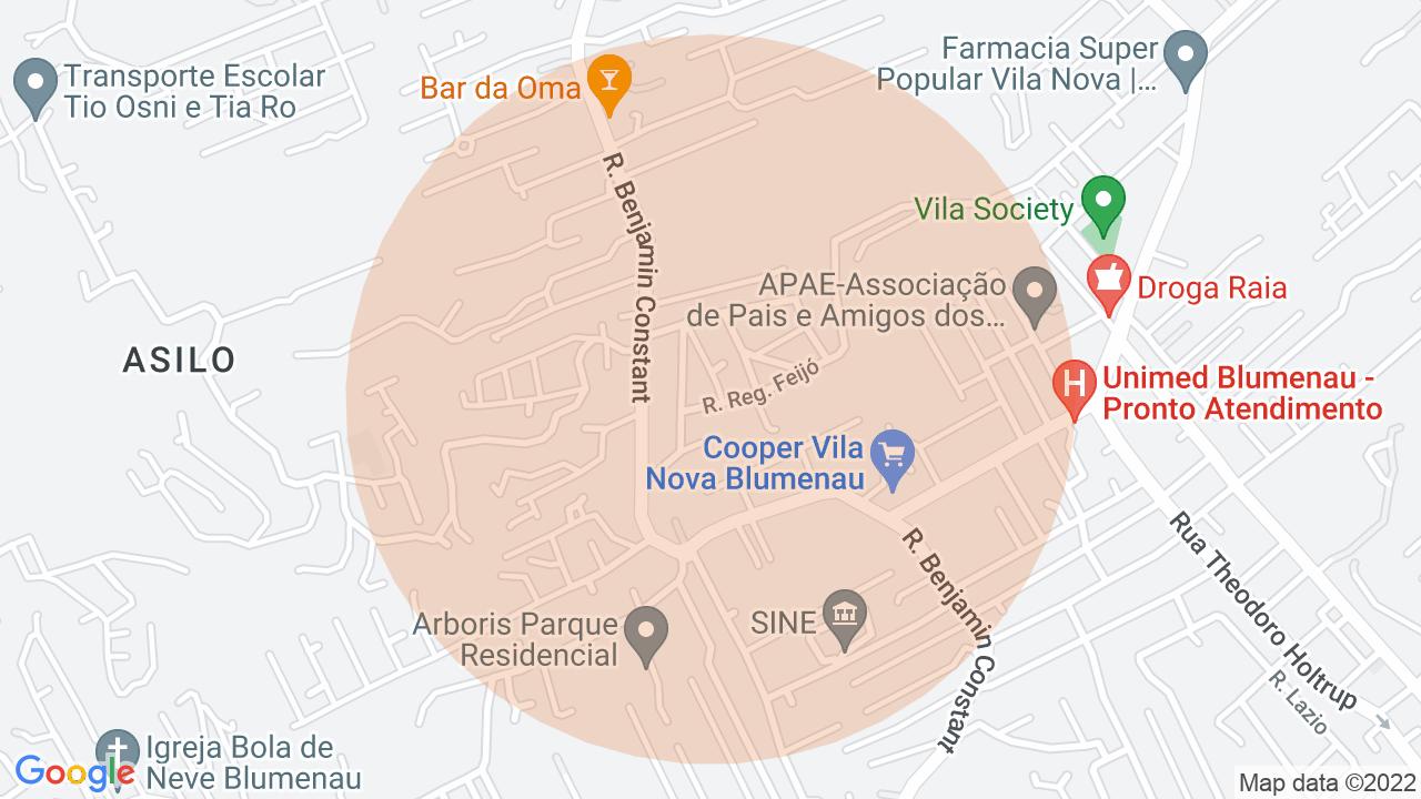 Localização Sobrado 3 dormitórios Vila Nova - Blumenau, SC