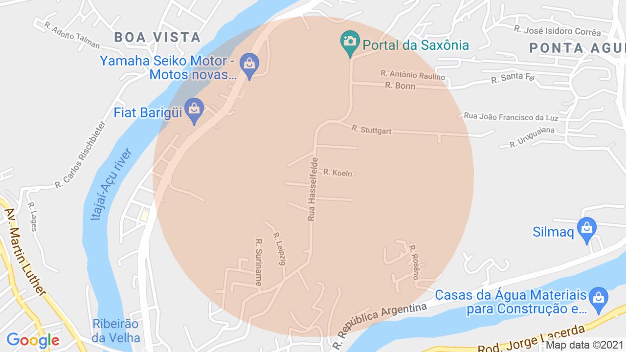 Localização Lote/Terreno Ponta Aguda - Blumenau, SC