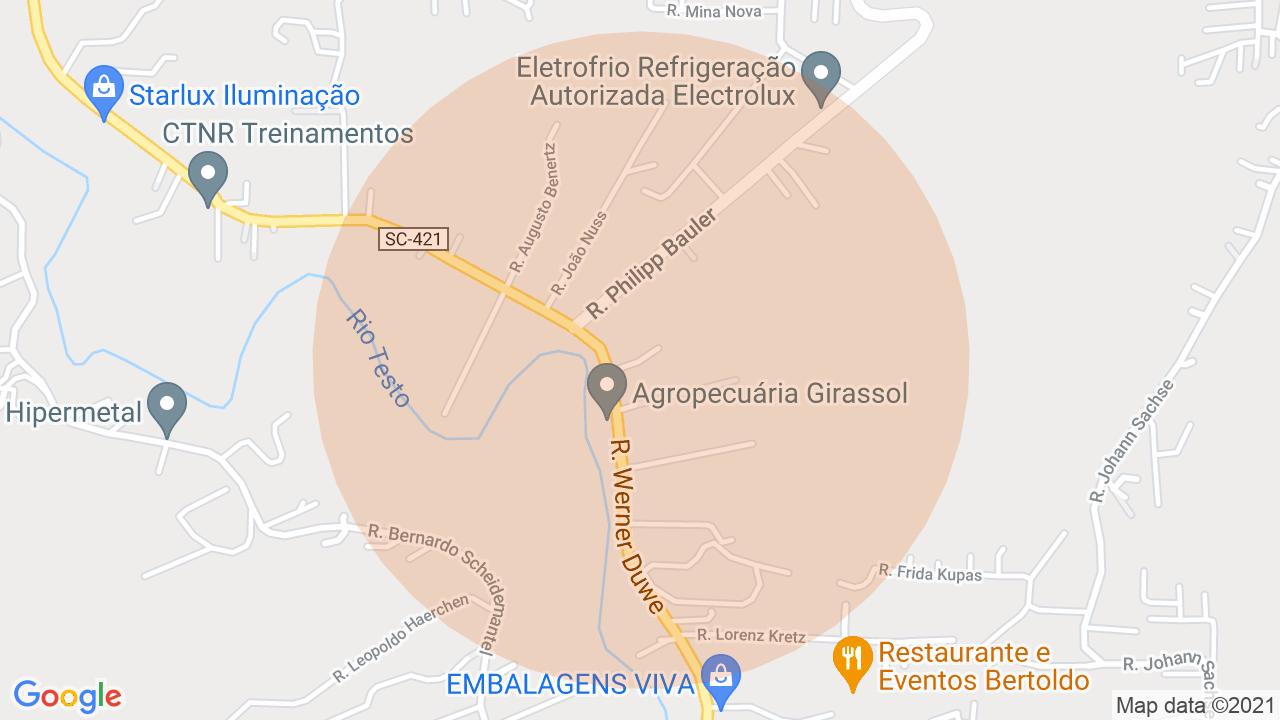 Localização Lote/Terreno Testo Salto - Blumenau, SC