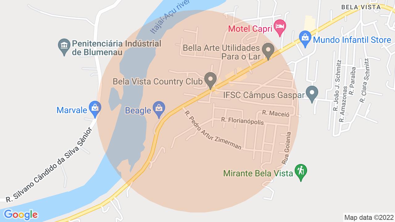 Localização Apartamento 2 dormitórios Bela Vista - Gaspar, SC