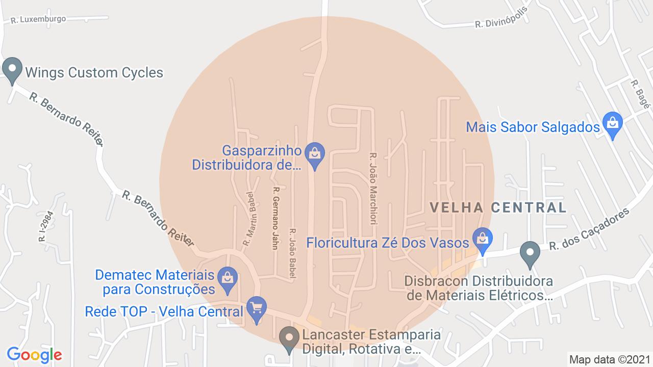 Localização Sobrado 2 dormitórios Velha Central - Blumenau, SC