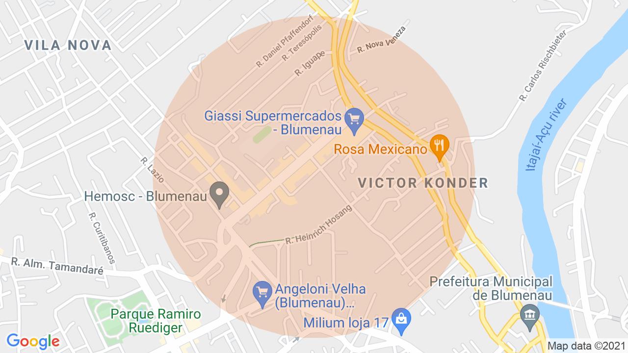 Localização Apartamento 2 dormitórios Victor Konder - Blumenau, SC