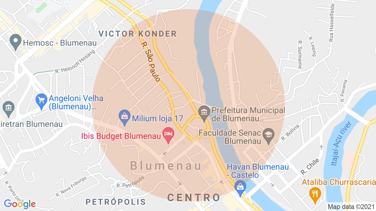 Localização Sala Comercial Victor Konder - Blumenau, SC
