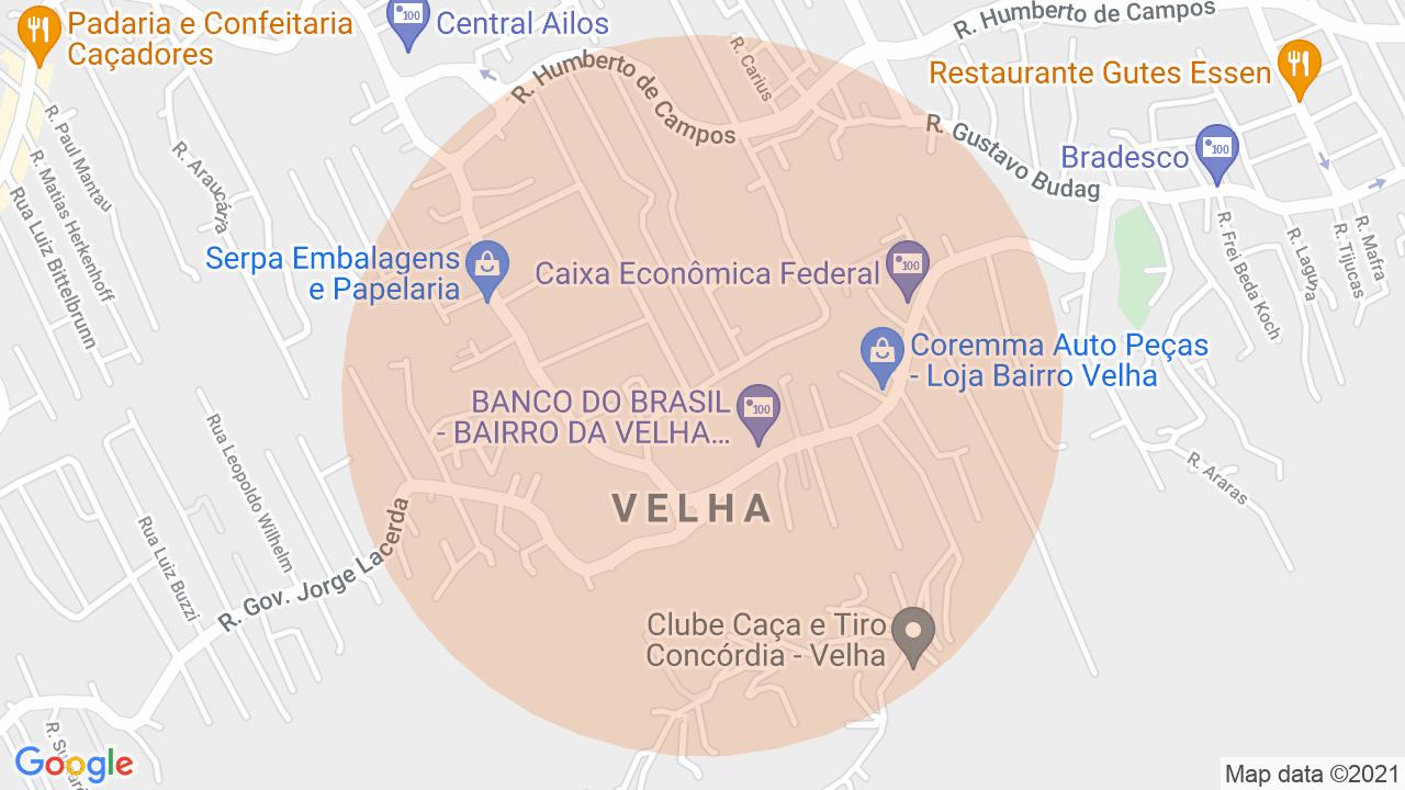 Localização Lote/Terreno Velha - Blumenau, SC