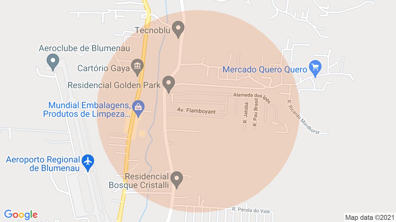 Localização Casa 3 dormitórios Itoupava Central - Blumenau, SC