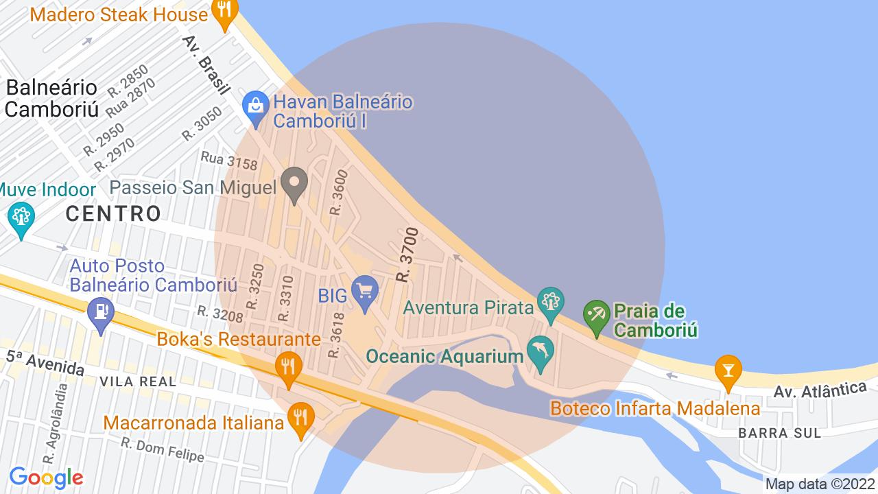 Localização Apartamento 3 dormitórios Centro - Balneário Camboriú, SC